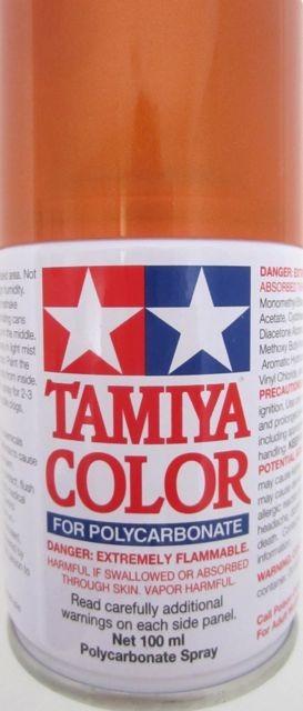 Thunderbird Slot Racing Tamiya Spray Paint For Polycarbonate Metallic Orange