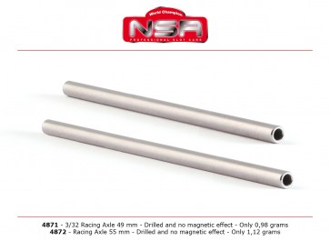 NSR axle - hollow - 3/32 x 55mm.