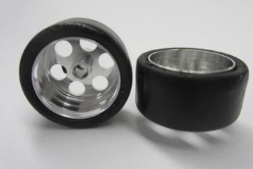 "NSR RTR front tyres/rims. 18 x 8 x 17"" hubs."