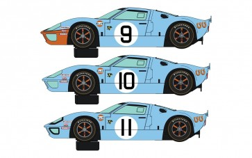 Scalextric Legends Ford GT40 LeMans 1968 - Gulf Triple Pack - Limited Edition