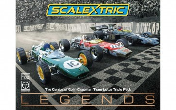 The Scalextric 'Genius of Colin Chapman' - Lotus F1 Triple Pack - C4184A
