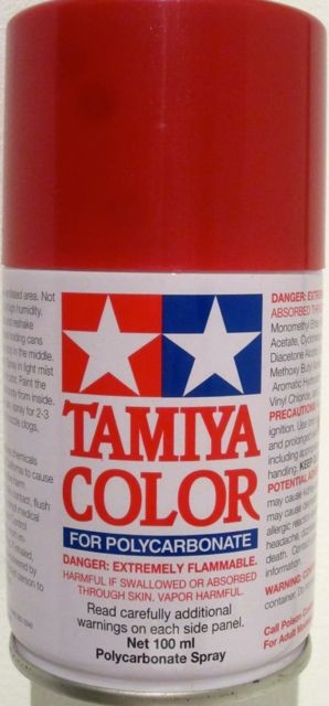 Thunderbird Slot Racing Tamiya Spray Paint For Polycarbonate Metallic Red