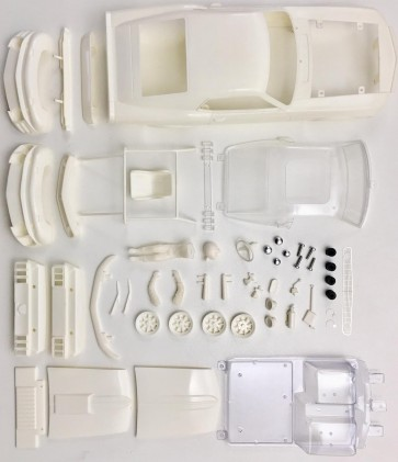 BRM 1969 Ford Mustang Boss 302 - 1/24 scale white body kit