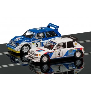 Scalextric C3590A Peugeot 205 T16 & MG Metro R64
