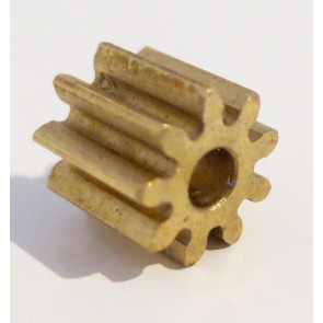 H & R Racing Products 9t brass pinion.