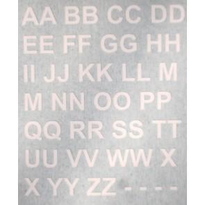 TSR letters - 132 - white