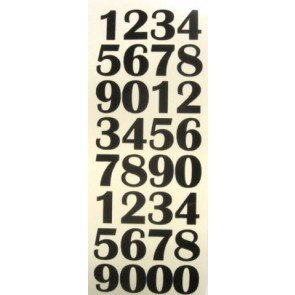 Thunderbird Slot Racing Number stickers 1/24 scale.
