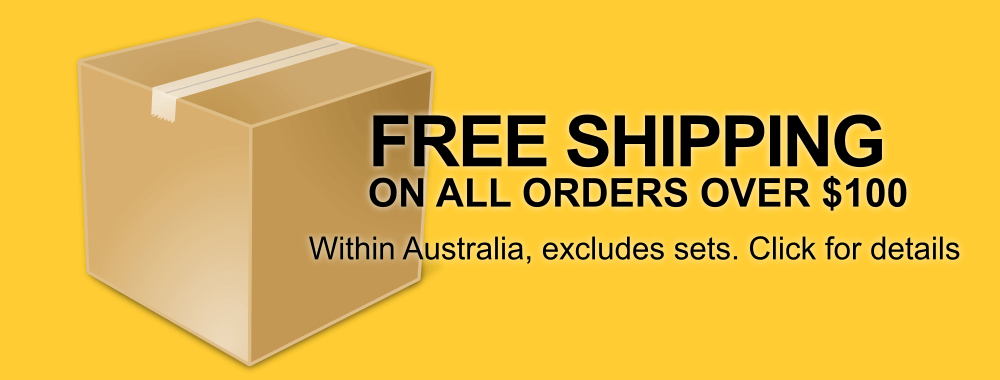 Free shipping Australia wide for all orders over $100